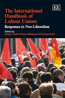 The International Handbook of Labour Unions PDF