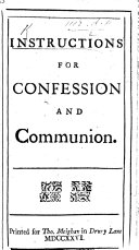 Instructions for Confession and Communion. By John Gother