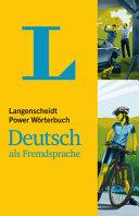 Langenscheidt Power W  rterbuch Deutsch als Fremdsprache PDF