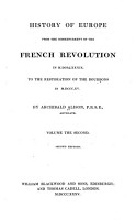 History of Europe from the Commencement of the French Revolution in M DCC LXXXIX PDF