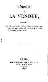 Mémoires sur la Vendée