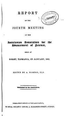 Report of the     Meeting of the Australian and New Zealand Association for the Advancement of Science PDF