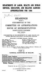Departments of Labor  Health and Human Services  Education  and Related Agencies Appropriations for 1986 PDF