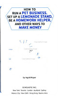 How to Run a Pet Business  Set Up a Lemonade Stand  be a Homework Helper  and Other Ways to Make Money PDF