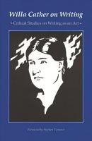 Willa Cather on Writing PDF