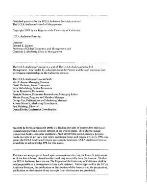 The UCLA Anderson Forecast for the Nation and California PDF