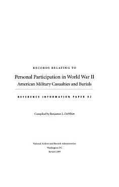 Records Relating to Personal Participation in World War II PDF