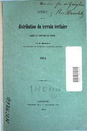 Aperçu de la distribution du terrain tertiaire dans le canton de Vaud