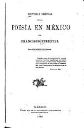 Historia crítica de la poesía en México