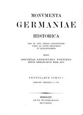 Gregorii I papae Registrum epistolarum: Volume 1