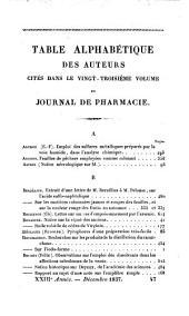 Journal de pharmacie et des sciences accessoires: Volume23