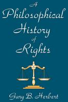 A Philosophical History of Rights PDF