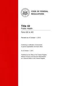 Title 42 Public Health Parts 430 to 481  Revised as of October 1  2013  PDF