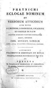 Phrynichi Eclogae nominum et verborum Atticorum