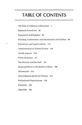 Administration of Athletics in Colleges and Universities PDF