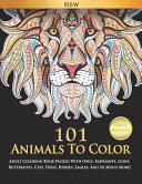 101 Animals To Color PDF