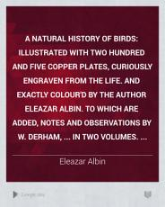 A Natural History of Birds PDF