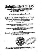 Schriftuerlyck en politijck discours over den wijt beroemden biddagh: Volume 1