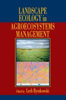 Landscape Ecology in Agroecosystems Management PDF