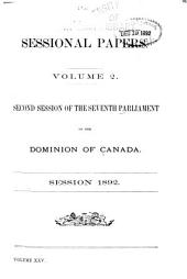 Sessional Papers: Volume 25, Issue 2