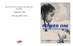Power on    new tools for teaching and learning  PDF