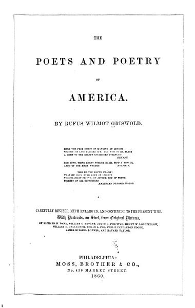The Poets and Poetry of America PDF