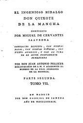 El Ingenioso Hidalgo Don Quixote de La Mancha: Parte segunda. 7
