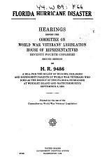Florida Hurricane Disaster. Hearings on H.R. 9486 ... 1936