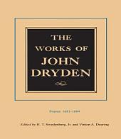 The Works of John Dryden, Volume II: Poems, 1681-1684