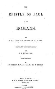 The Epistle of Paul to the Romans PDF