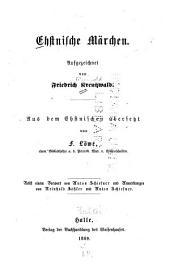 Ehstnische Märchen: Band 1