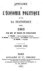 Annuaire de l'économie politique et de la statistique: Volume20