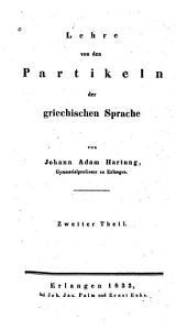 Lehre von den Partikeln der griechischen Sprache