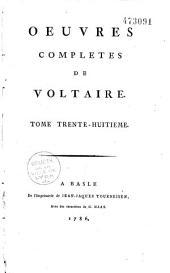 Oeuvres complètes de Voltaire: Volume29