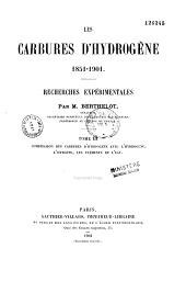 Les carbures d'hydrogène: 1851-1901