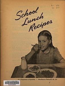 School Lunch Recipes Book