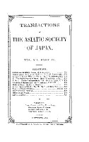 Transactions of the Asiatic Society of Japan PDF