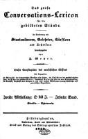 Das grosse Conversations Lexicon f  r die gebildeten St  nde PDF
