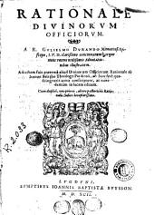 Rationale divinorum officiorum