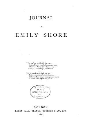 Journal of Emily Shore