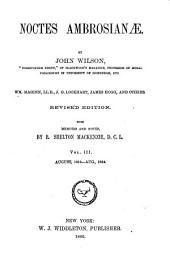 Noctes Ambrosianæ: Volume 4