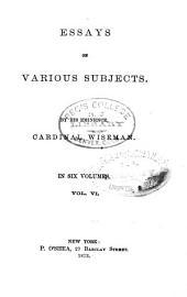 Essays on Various Subjects: Volume 6