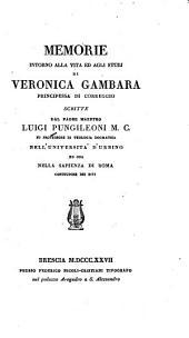 Memorie intorno alla vita ed agli studj di Veronica Gambara, principessa di Correggio