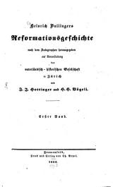 Reformationsgeschichte: Band 1