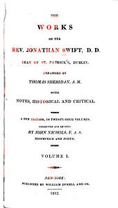 The Works of the Rev. Jonathan Swift, D.D.: Dean of St. Patrick's, Dublin, Volume 1