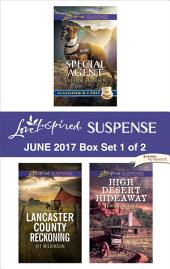 Harlequin Love Inspired Suspense June 2017 - Box Set 1 of 2: Special Agent\Lancaster County Reckoning\High Desert Hideaway