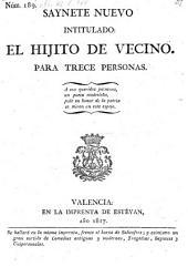 Saynete nuevo intitulado: El Hijito de vecino