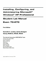 Exam 70 270 Microsoft Windows XP Professional L M PDF