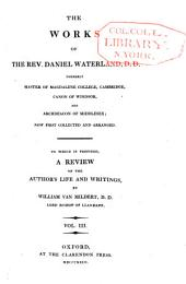 The works of Daniel Waterland: to which is prefixed a review of the author's life and writings, Volume 3