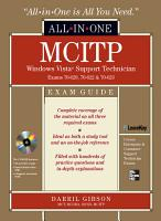 MCITP Windows Vista Support Technician All in One Exam Guide  Exam 70 620  70 622    70 623  PDF